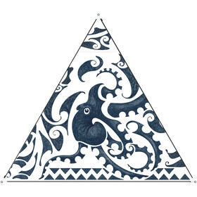 Bent Canvas Set de Toldos Nueva Zelanda, azul/blanco